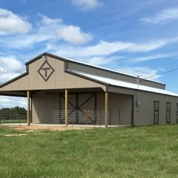 Mule Shoe Barns Building Steel Pole And Metal Building